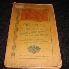 Silvestru Moldovan - Ardealul - Tinuturile de pe Olt - ed Ciurcu - 1911 - uzata - Carte veche