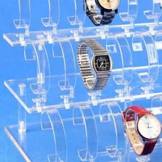 Suport expunere ceasuri 18 spatii acril transparent - Cutie Bijuterii