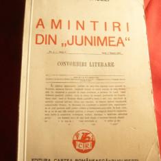 Iacob Negruzzi - Amintiri de la Junimea - Ed. Cartea Romaneasca 1939 - Biografie