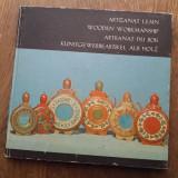 ARTIZANAT LEMN- WOODEN WORKMANSHIP, 1978 - Carte Arta populara