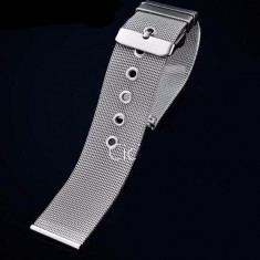 Bratara ceas MILANEZA impletita 12mm - 24mm - Curea ceas din metal