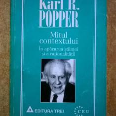 Karl R. Popper - Mitul contextului - Filosofie