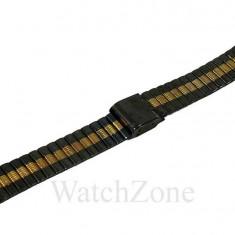 Bratara ceas neagra cu auriu 18mm - Curea ceas din metal