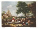 Reproducere pe panza tablou de ZUCCARELLI F. Dimensiuni: 18 x 24 cm