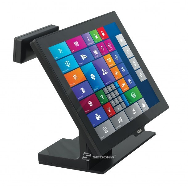 """POS All-in-One Aures Yuno cu WiFi, 15"""" (Display client - 2x20 Caractere ) foto mare"""