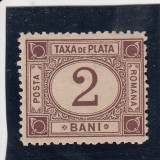ROMANIA 1881 TAXA DE PLATA TIPAR BRUN VALOAREA 2 BANI - Timbre Romania, Nestampilat
