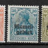 Memel 1920 serie deparaiata, Nestampilat