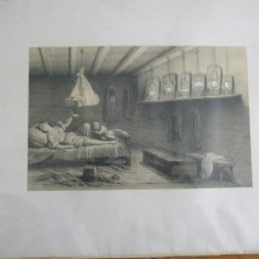 Balti Moldova 1839 Hector Louis Bearn amintiri Turcia gravura - Pictor roman, An: 1889, Istorice, Fresca, Realism