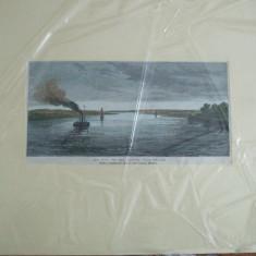 Dunarea 1877 razboiul peisaj langa Braila Londra Illustrated London News