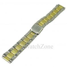 Bratara Metalica de Ceas Bicolora - Curea ceas din metal