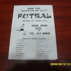 Program Vega Deva - UTA - Program meci