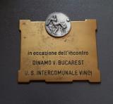 Placheta fotbal Dinamo Victoria Bucuresti medalie