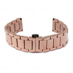Bratara ceas 20mm otel inoxidabil Copper Gold - Curea ceas din metal