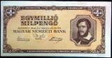 Bancnota istorica 1000000 Pengo - UNGARIA, anul 1946 *cod 747 --- 1 MILION!
