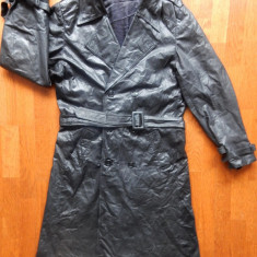 Palton piele naturala; marime 56, vezi dimensiuni exacte in a doua poza - Palton barbati, Culoare: Din imagine