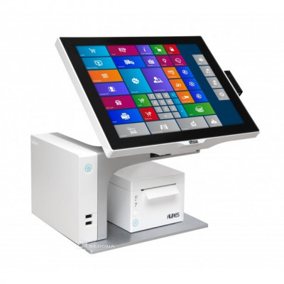 """POS All-in-One Aures Sango, 15"""" (Display client atasat - Ecran non-touch 10.1"""") foto"""