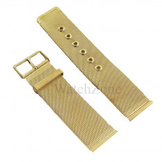 Bratara ceas milaneza 22mm otel inoxidabil aurie - Curea ceas din metal