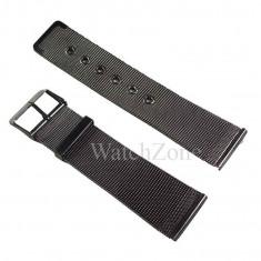 Bratara ceas milaneza 22mm otel inoxidabil neagra - Curea ceas din metal