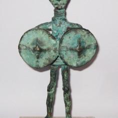 Statueta bronz Zeu Luptator Nuraghi cu 4 ochi si 4 brate Sardinia - Sculptura, Religie, Europa