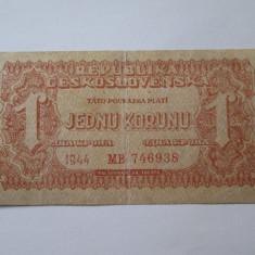 Cehoslovacia 1 Korunu 1944 - bancnota europa