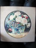 """Vase cu flori"", acuarela, foarte veche-circa 1920, nesemnata, Impresionism"