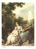 Reproducere pe panza tablou de HILAIR J.B.. Dimensiuni: 18 x 24 cm