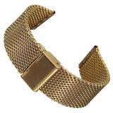 Bratara De Ceas Milaneza Aurie Mesh - Curea ceas din metal