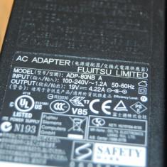 Incarcator Laptop Fujitsu Siemens FUJITSU 19V 4.22A 80W model ADP-80NB A mufa 5.5*2.5mm, Incarcator standard