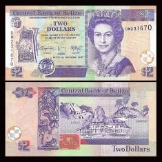Belize 2014 - 2 dollars UNC - bancnota america