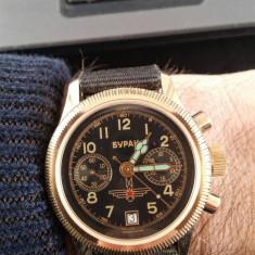 CEAS CHRONOGRAPH cronograf POLJOT POLET BURAN - Ceas barbatesc Poljot, Casual, Mecanic-Manual, Inox, Analog
