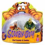 Jucarie Set 2 figurine Scooby Doo Bucatar si Zombie