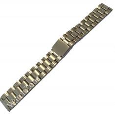 Bratara ceas argintie 18mm 22mm - Curea ceas din metal