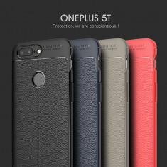 Husa / Bumper Antisoc model PIELE pentru OnePlus 5T / One Plus 5T - Husa Telefon, Negru