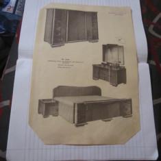 Reclama mobila interbelica din atelier vasile cristescu bucuresti - Pliant Meniu Reclama tiparita