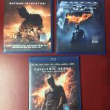 Colectia completa Batman, The Dark Knight , 3 filme blu ray , NOI