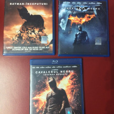 Colectia completa Batman, The Dark Knight, 3 filme blu ray, NOI - Film Colectie warner bros. pictures, Romana