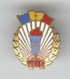 UCFS - Uniunea pentru Cultura Fizica si Sport - Insigna email  Romania 1970s