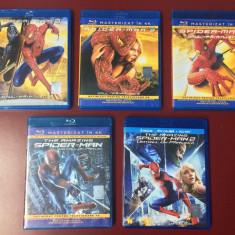 Colectia completa Spider Man, 5 filme blu ray cu romana, NOI !!! - Film actiune sony pictures