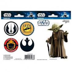 Set Stickers Star Wars 16X11cm Yoda/Symboles