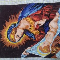 Goblen Maica Domnului si Pruncul - Icoana brodate