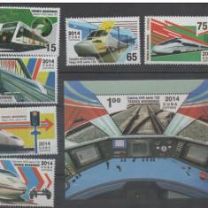 Cuba, trenuri, 2014, serie si colita, MNH - Timbre straine, Nestampilat