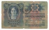 AUSTRIA  AUSTRO-UNGARIA  20  KRONEN  COROANE 1913  [013] TIMBRU SPECIAL ROMANIA