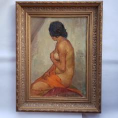 MIHAI CAMARUT - PICTOR, ARTIST IESEAN - NUD - 1929 - ulei/pînza - Pictor roman, Realism