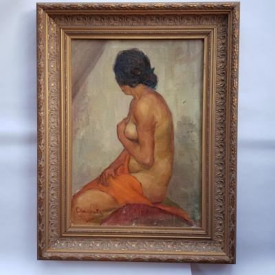 MIHAI CAMARUT - PICTOR ,ARTIST IESEAN - NUD - 1929 - ulei/pînza foto
