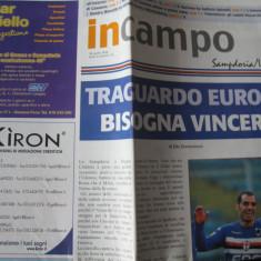 Sampdoria - Udinese - (20 aprilie 2008), program de meci - Program meci