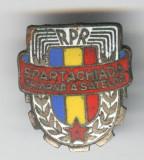 SPARTACHIADA de IARNA a SATELOR RPR  1950 - Insigana sport  superba Romania