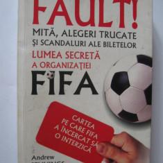 Lot 3 carti de sport - Fault, mita, alegeri trucate si scandaluri ale biletelor - Carte sport