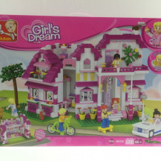 Joc tip Lego SLUBAN Girls dream 728piese - Set de constructie