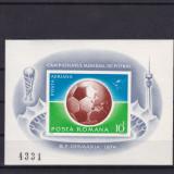 ROMANIA 1974 LP 853 CAMPIONATUL DE FOTBAL COLITA NEDANTELATA MNH - Timbre Romania, Nestampilat