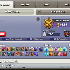 Vand cont clash of clans: TH 10 full defense, 5 builderi, 3k gems - Joc PC Supercell